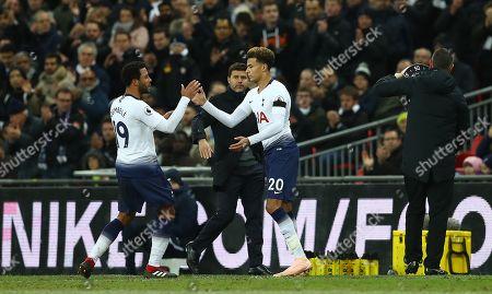 Dele Alli of Tottenham Hotspur replaces Mousa Dembele
