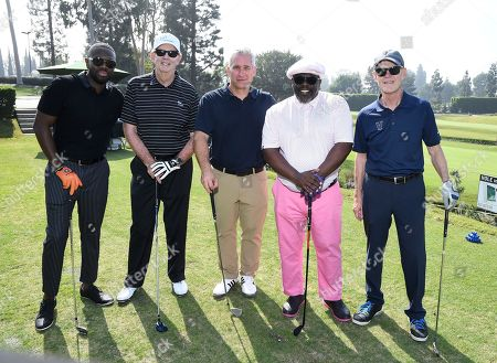 Cedric the Entertainer, Aaron Kaplan, Dick Askin, Jerry Petry, Sean Mckinney, Jerry Petry. Sean Mckinney, from left, Jerry Petry, Dick Askin, Cedric the Entertainer, and Sean Mckinney attends the 19th Annual Emmys Golf Classic at the Wilshire Country Club on in Los Angeles