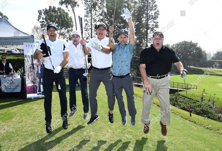 Brett Weitz, Andy Buckley, Rob Port, Breckin Meyer, Michael Ironside. Brett Weitz, from left, Andy Buckley, Rob Port, Breckin Meyer and Michael Ironside attend the 19th Annual Emmys Golf Classic at the Wilshire Country Club on in Los Angeles