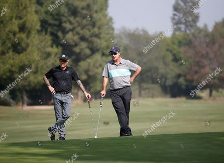 Stock Picture of Robert Frank, Jackie Flynn. Robert Frank, left, and Jackie Flynn attend the 19th Annual Emmys Golf Classic at the Wilshire Country Club on in Los Angeles