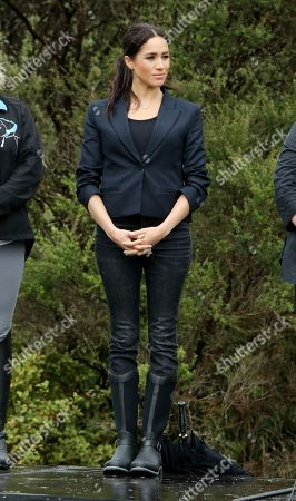 Meghan Duchess of Sussex at Abel Tasman National Park in Auckland.