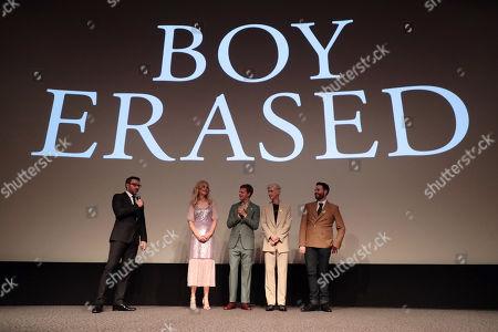 Stock Image of Joel Edgerton, Nicole Kidman, Lucas Hedges, Troye Sivan, Garrard Conley, Author,