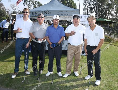 Stock Photo of Mike Rosa, Armando Gallego, Opal Chayakham, Armand Sheng, James Remar. Mike Rosa, from left, Armando Gallego, Opal Chayakham, Armand Sheng and James Remar attend the 19th Annual Emmys Golf Classic at the Wilshire Country Club on in Los Angeles