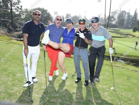 Larry Stemerman, Marty Hackel, Daron O'Donnell, Robert Frank, Jackie Flynn. Larry Stemerman, from left, Marty Hackel, Daron O'Donnell, Robert Frank, Jackie Flynn attend the 19th Annual Emmys Golf Classic at the Wilshire Country Club on in Los Angeles