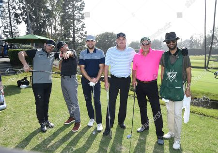 Alan Cruciani, Vinc Scandone, Andrew Denham, Steve Chapman, Peter Weller, Patrick Hume. Alan Cruciani, from left, Vinc Scandone, Andrew Denham, Steve Chapman, Peter Weller and Patrick Hume attend the 19th Annual Emmys Golf Classic at the Wilshire Country Club on in Los Angeles
