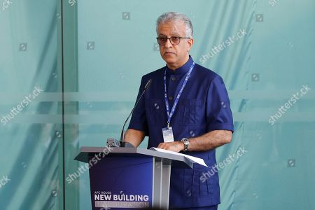 Asia Football Confederation President Salman Bin Ibrahim Al-Khalifa speaks during an inauguration ceremony of the new building for the Asia Football Confederation in Kuala Lumpur, Malaysia