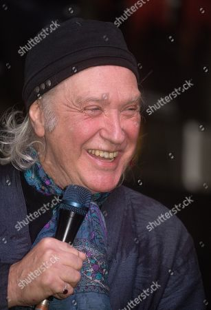 Stock Image of Dave Davies of the Kinks talking about 'The Kinks Are the Village Green Preservation Society' album