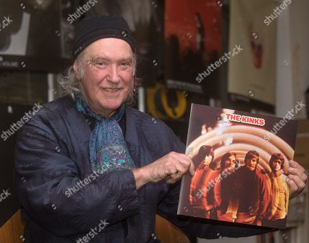 Stock Photo of Dave Davies of the Kinks talking about 'The Kinks Are the Village Green Preservation Society' album