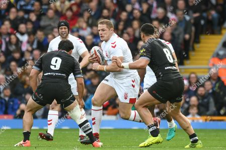 George Burgess of England (and South Sydney Rabbitohs) attacks the line Credit:  Richard Long/News Images