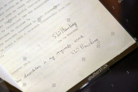One of five original copies of Stephen Hawking's signed PhD thesis, 15 October 1965, estimate £100,000-150,000