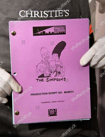 Stephen Hawking's original production script for his final appearance on The Simpsons, 14 December 2009, estimate £2,000-3,000