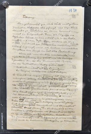 Stephen Hawking's Albert Einstein autograph manuscript, Toleranz, (1934), Einstein's plea for tolerance, estimate £18,000-25,000
