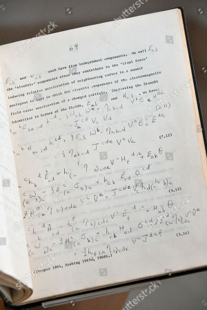 Stephen Hawking's essay Singularities and the geometry of space-time, submitted for the Adams Prize, 13 December 1966, with autograph corrections and insertions, estimate £10,000-15,000