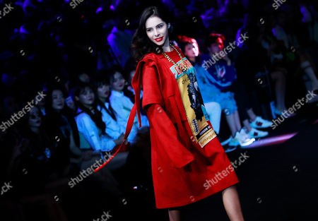 Models present creations during the AudiQ2L x CHI ZHANG show during the China Fashion Week in Beijing, China, 30 October 2018. China Fashion Week runs till 02 November.