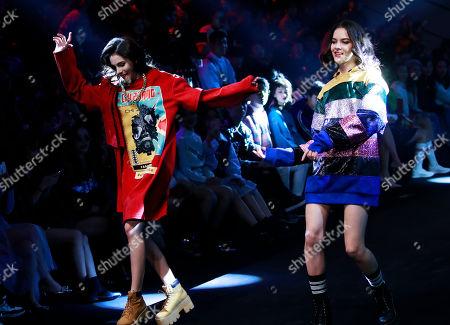 Stock Image of Models present creations during the AudiQ2L x CHI ZHANG show during the China Fashion Week in Beijing, China, 30 October 2018. China Fashion Week runs till 02 November.