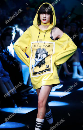 Stock Photo of Models present creations during the AudiQ2L x CHI ZHANG show during the China Fashion Week in Beijing, China, 30 October 2018. China Fashion Week runs till 02 November.