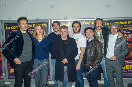 Stock Picture of Vincent Elbaz, Adele Haenel, Damien Bonnard, Pierre Salvadori, Pio Marmai and guests
