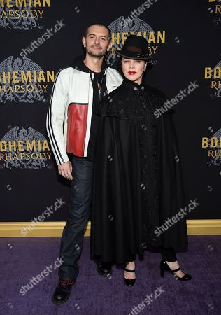"""Stock Image of Gabriele Corcos, Debi Mazar. Actress Debi Mazar and husband Gabriele Corcos attend the premiere of """"Bohemian Rhapsody"""" at The Paris Theatre, in New York"""