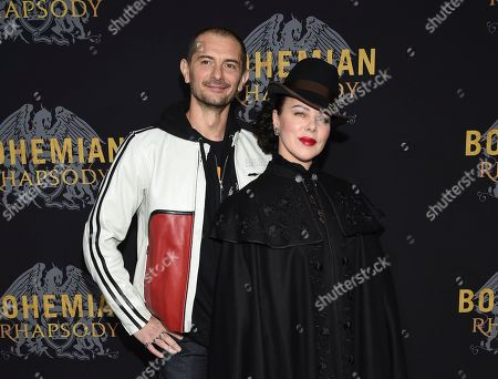 "Gabriele Corcos, Debi Mazar. Actress Debi Mazar and husband Gabriele Corcos attend the premiere of ""Bohemian Rhapsody"" at The Paris Theatre, in New York"