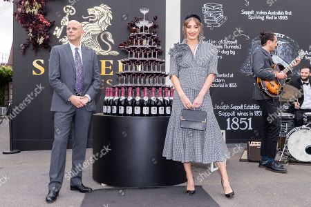 Rebecca Harding and Adam Carnaby are seen in Seppelt Wines ahead of the Melbourne Cup Carnival in Melbourne, Australia, 31 October 2018.