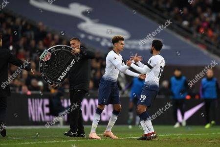 Dele Alli is substituted on for Mousa Dembele