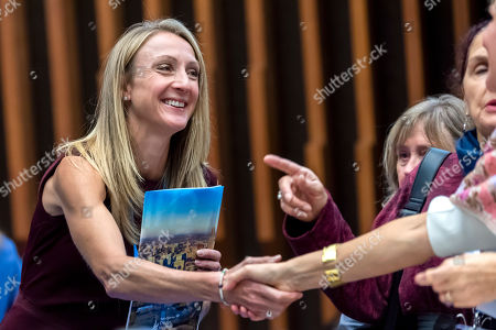 British long-distance runner and marathon world record-holder Paula Radcliffe, speak, during the first WHO Global Conference on Air Pollution and Health, at the World Health Organization (WHO) headquarters in Geneva, Switzerland, 31 October 2018. The conference is being held from 30 October to 01 November is responding to a World Health Assembly mandate to combat one of the world?s most significant causes of premature death, causing some seven million deaths annually.