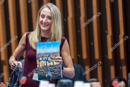 British long-distance runner and marathon world record-holder Paula Radcliffe, speak, during the first WHO Global Conference on Air Pollution and Health, at the World Health Organization (WHO) headquarters in Geneva, Switzerland, 31 October 2018. The conference is being held from 30 October to 01 November responding to a World Health Assembly mandate to combat one of the world?s most significant causes of premature death, causing some seven million deaths annually.