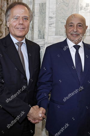 Editorial photo of Libyan House of Representatives President in Rome, Italy - 31 Oct 2018