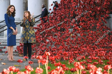 Editorial picture of Catherine Duchess of Cambridge visits the Imperial War Museum, London, UK - 31 Oct 2018
