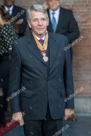 Piet Hein Donner at the extraordinary meeting of the Council of State on the occasion of the farewell of Vice President Donner.