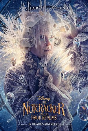 Stock Picture of The Nutcracker and the Four Realms (2018) Poster Art. Richard E. Grant as Shiver