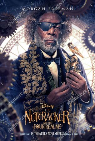Stock Photo of The Nutcracker and the Four Realms (2018) Poster Art. Morgan Freeman as Drosselmeyer