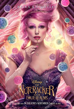The Nutcracker and the Four Realms (2018) Poster Art. Keira Knightley as Sugar Plum