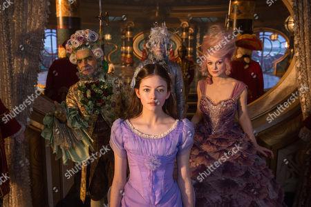 Eugenio Derbez as Hawthorne, Mackenzie Foy as Clara, Richard E. Grant as Shiver, Keira Knightley as Sugar Plum
