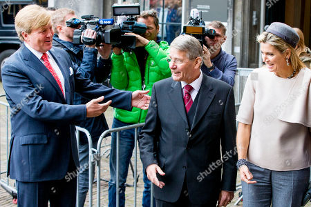King Willem-Alexander, Queen Maxima and Piet Hein Donner Extraordinary meeting of the Council of State, The Hague, The Netherlands
