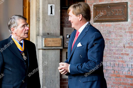 King Willem-Alexander and Piet Hein Donner Extraordinary meeting of the Council of State, The Hague, The Netherlands