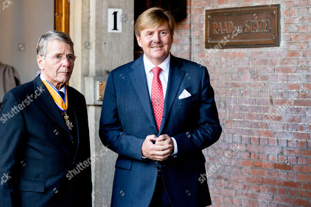 Stock Picture of King Willem-Alexander and Piet Hein Donner Extraordinary meeting of the Council of State, The Hague, The Netherlands