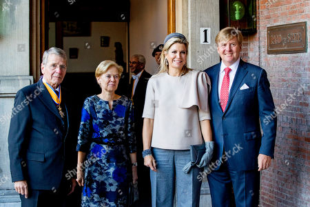 Stock Image of King Willem-Alexander, Queen Maxima and Piet Hein Donner Extraordinary meeting of the Council of State, The Hague, The Netherlands