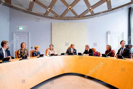 King Willem-Alexander, Queen Maxima and Piet Hein Donner