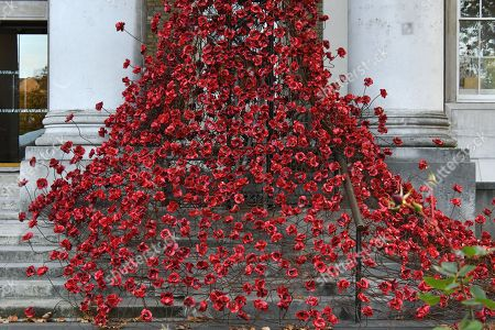 Editorial image of Weeping Window sculpture at Imperial War Museum, London, UK - 31 Oct 2018