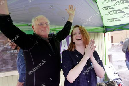 Sarah Smith, Ben Cohen. House candidate Sarah Smith, right, is cheered by Ben & Jerry's co-founder Ben Cohen at a campaign event in Seattle. Smith thought her campaign to unseat longtime Rep. Adam Smith might receive a lot more attention after little-known Alexandria Ocasio-Cortez upset a 10-term incumbent in New York last summer. Like Ocasio-Cortez, Sarah Smith is a young woman, a political newcomer and a Bernie Sanders-supporting Democratic Socialist challenging an entrenched fellow Democrat