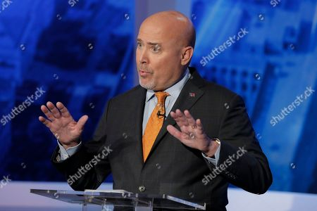 TomMacArthur. Tom MacArthur, the Republican candidate in the U.S. Congressional District 3 race, speaks during a debate with Democratic candidate Andy Kim, in Newark, N.J