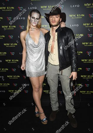 Destry Spielberg and guest attend Heidi Klum's 19th annual Halloween party at Lavo New York, in New York