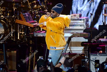 Juicy J performs during the tribute event Mac Miller: A Celebration of Life, at the Greek Theatre in Los Angeles