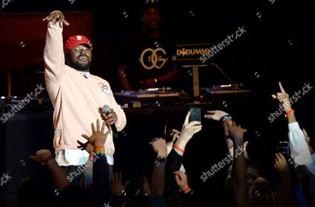 Schoolboy Q performs during the tribute event Mac Miller: A Celebration of Life, at the Greek Theatre in Los Angeles