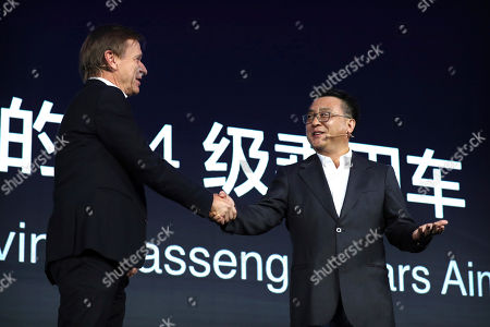 Hakan Samuelsson, Ya-Qin Zhang. Volvo Cars CEO Hakan Samuelsson, left, shakes hands with Baidu president Ya-Qin Zhang during the 2018 Baidu World conference in Beijing, . Chinese technology company Baidu announced on Thursday that it is partnering with Swedish carmaker Volvo to develop electric cars with autonomous-driving capabilities