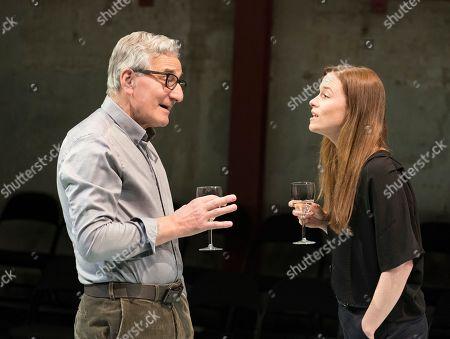 Henry Goodman as George, Katie Brayben as Claudia,