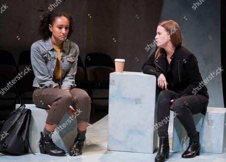 Natalie Simpson as Sophie, Katie Brayben as Claudia