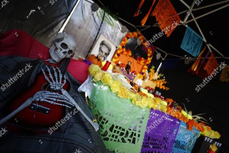 A view of an altar devoted to Mexican singer Chavela Vargas on the occasion of the All Saints' Day at the cemetery of the Almudena in Madrid, Spain, 01 November 2018. The All Saints' Day is a Christian celebration celebrated in honor of all saints.