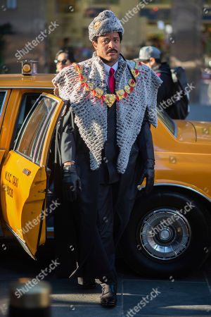 "Craig Melvin dresses as Eddie Murphy's character from ""Coming to America"" during the ""Today"" show Halloween celebration at Rockefeller Plaza, in New York"